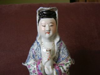 Chinese Porcelain Famille Rose Kwan Yin photo