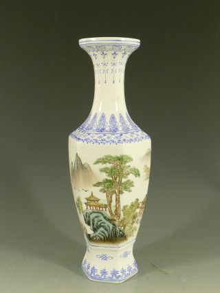 Chinese ' Republic ' Eggshell Porcelain Vase 20thc photo