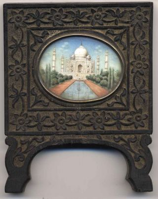 Indian Miniature Painting (framed) Taj Mahal,  19th Century photo