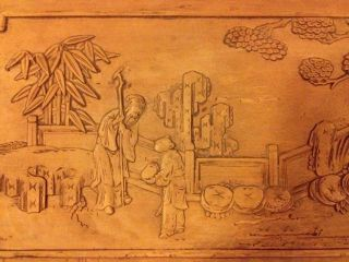Antique Chinese Panel Carving ~ Gorgeous photo