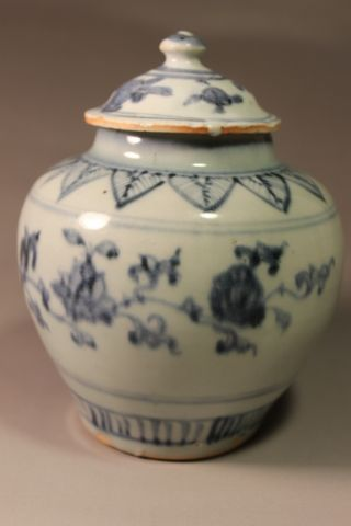Rare Blue & White Vase In Ming Dynasty With Lid photo