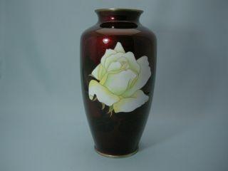 A Japanes Rose Cloisonne Vase photo