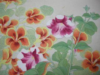 Old Japanese Woodblock Prints Botanical Flowers Tsunate Mifune 4 photo