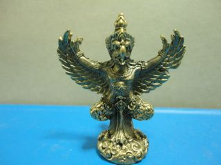 Garuda King Honor Respect Lucky Charm Thai Amulet photo