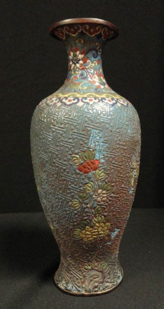 Anitque Chinese Cloisonne Vase 18th Or 19th Century photo