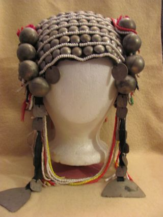 Akha Loimi Burma Thailand Tribal Headdress Headpiece Myanmar photo