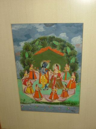 Antique Krishna Painting photo