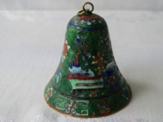 Antique Chinese Cloisonne Enamel Different Design Gorgerous Bell Nr photo