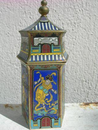 Rare Antique China Xix Temple Pot,  Enameled Porcelain Cloisonne,  Collectors,  Nr photo