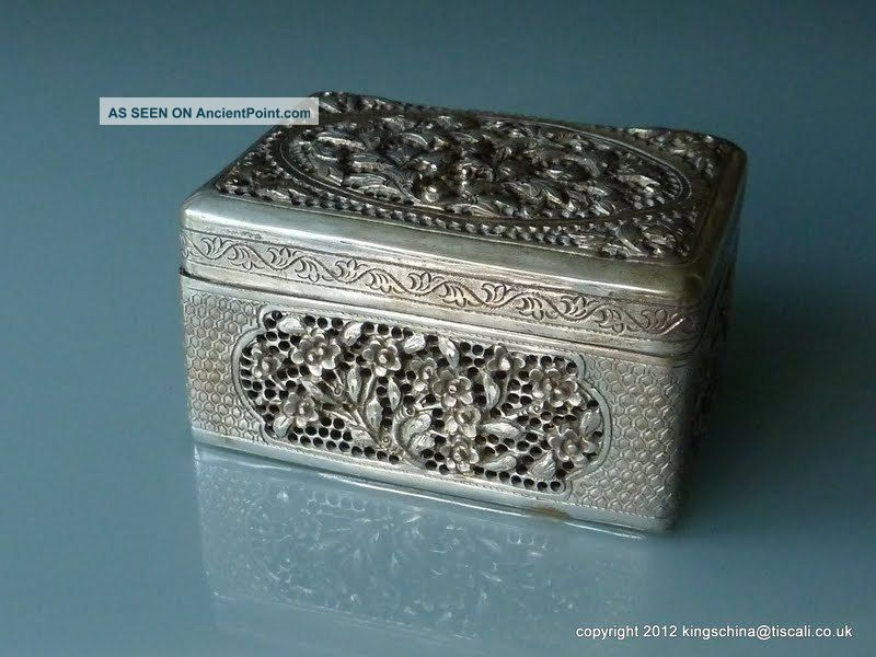 Nr Antique Chinese Silver Bronze Hand Warmer Box Qing Boxes photo