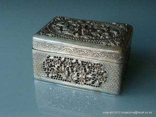 Nr Antique Chinese Silver Bronze Hand Warmer Box Qing photo