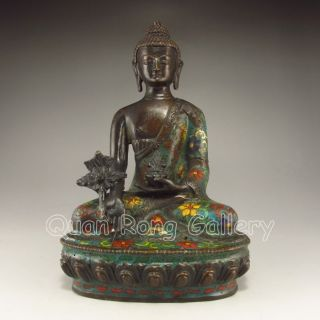 Chinese Cloisonne Statue - Buddha Nr photo