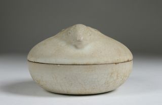 Antique Chinese Ceramic Pottery Bowl/rabbit/qing - Ch ' Ing/19th Century/ photo