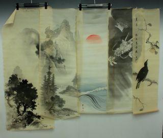 Jiku752 Jj Japan Scroll Dragon & Sansui Makuri 5p photo