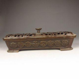 Chinese Bronze Incense Burner & Lid photo