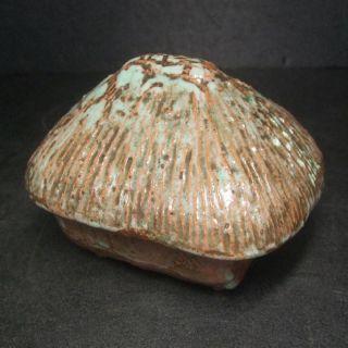 F178: Japanese Old Pottery Ware Incense Burner Kuzuya - Koro With Good Atmosphere photo