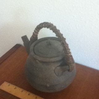 Japanese Bizen Tea Pot Antique Ceremony photo