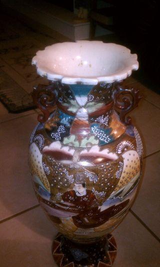 Antique Ceramic Floor Vase Rare Piece photo
