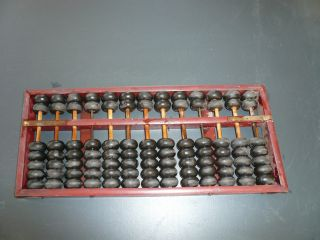 Vintage/antique Traditional Wooden Abacus Calculator photo