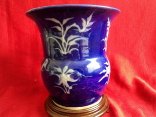 18th - 19th Centry Antiques Chinese Porcelain Cobalt Vase photo
