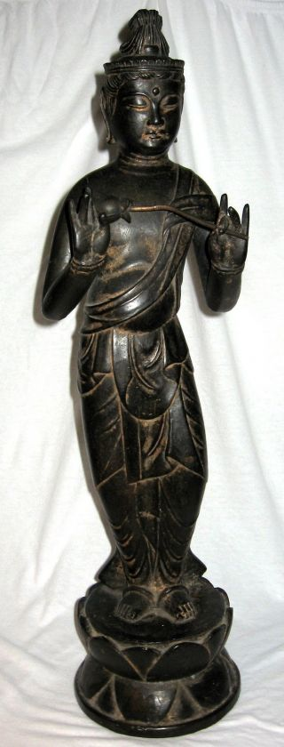 Antique Chinese Bronze Kwan - Yin Statue 25