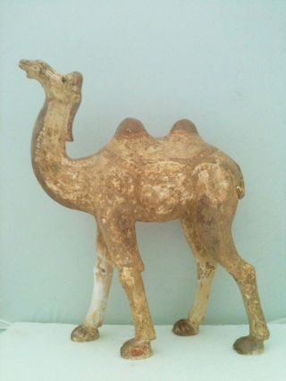 Rare Large Tang Dynasty Pottery Camel photo
