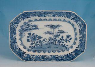 Fine Antique C 1780 Chinese Porcelain Blue & White Platter 10.  5 Inch 27 Cm 1 photo