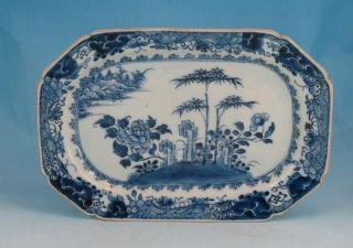 Fine Antique C 1780 Chinese Porcelain Blue & White Platter 10.  5 Inch 26.  7 Cm 2 photo