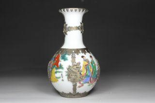 Chinese Handwork Porcelain Dragon Belle Old Vases photo