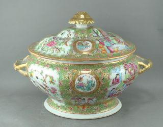 A Huge/beautiful Chinese 19c Rose Medallion Tureen photo