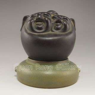 Chinese Zisha / Purple Clay Statue - Laughing Buddha Nr photo