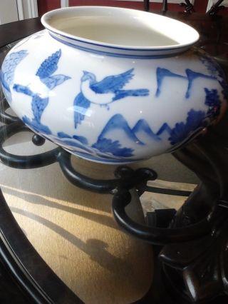 Amazing Chinese Antique Blue And White Vase photo