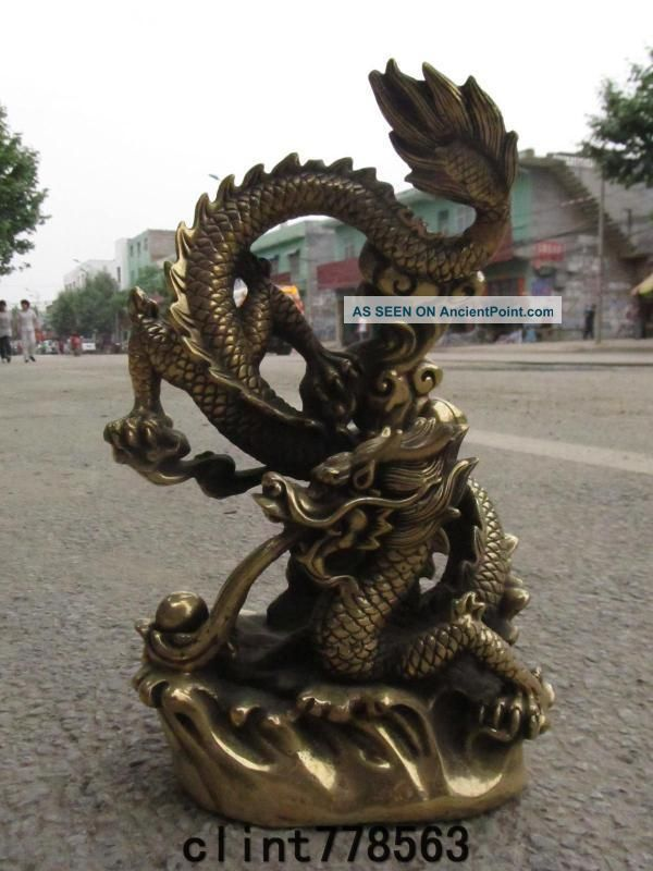 China Imperial Family Classical Art Brass Dragon Statues260 Reproductions photo