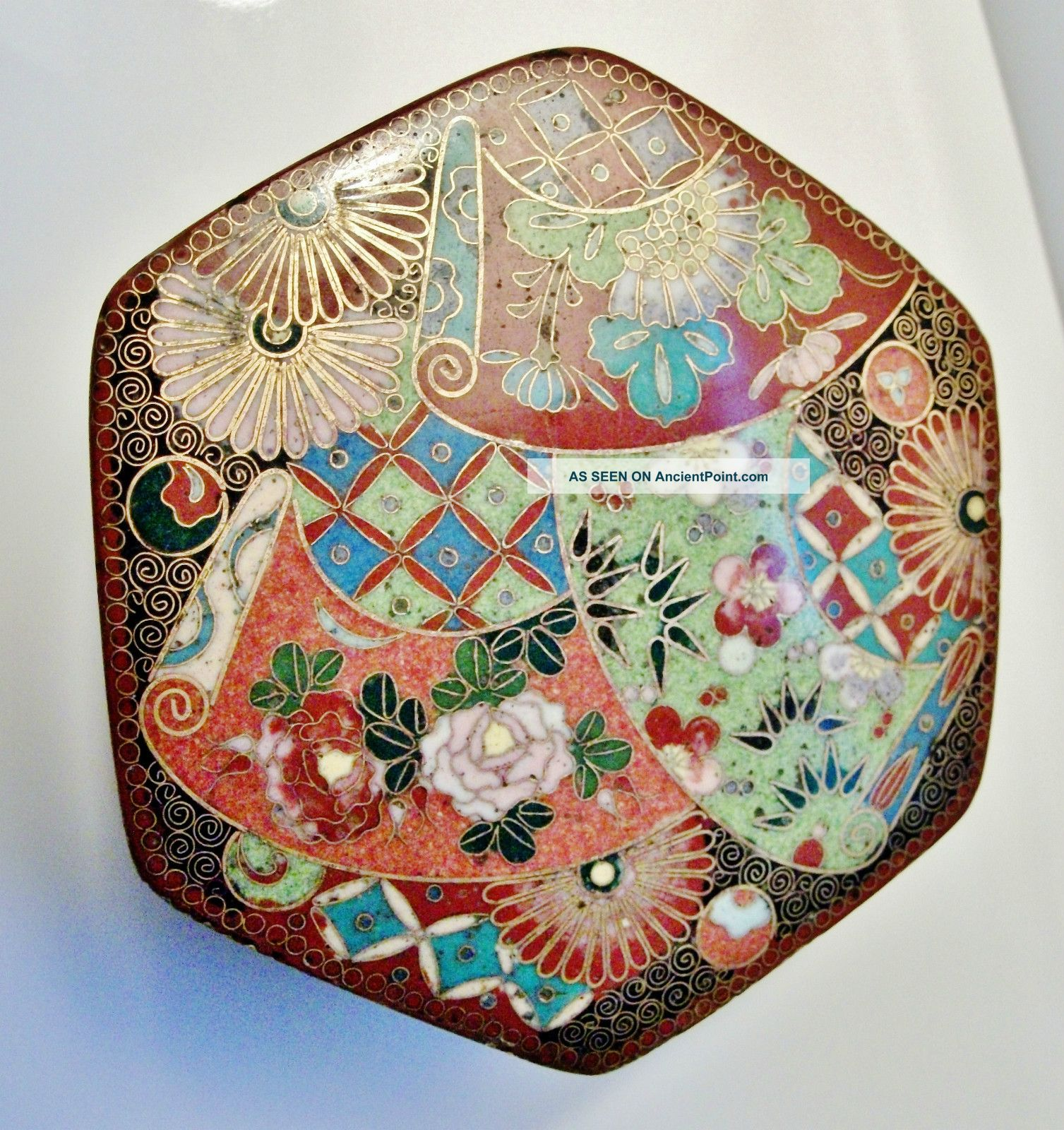 Chinese Antique Cloisonne Box - Excellent Craftsmanship - High Quality Art Boxes photo