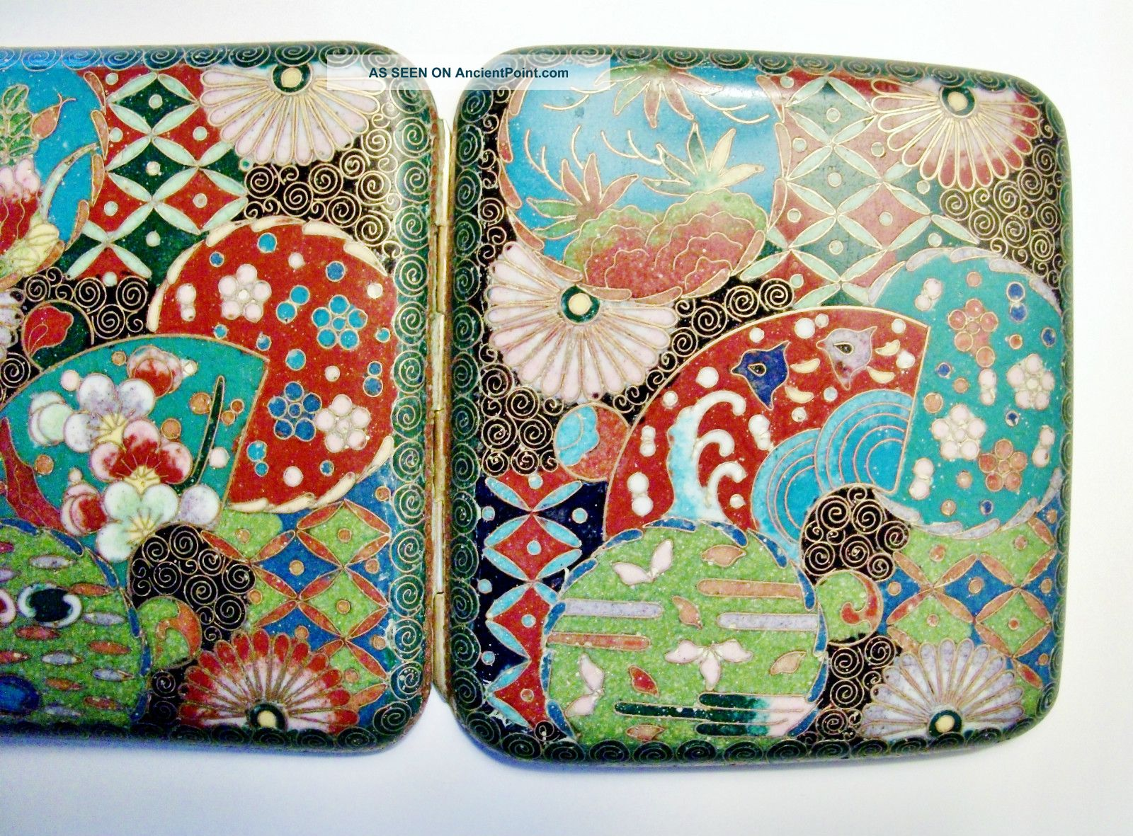 Chinese Antique Cloisonne Cig Case - Excellent Craftsmanship - Quality Art Boxes photo