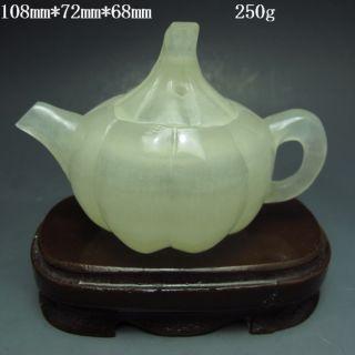 100% Natural Afghan Jade Teapots & Lid Nr/xy1641 photo