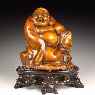 Chinese Shoushan Stone Statue - Laughing Buddha Nr photo