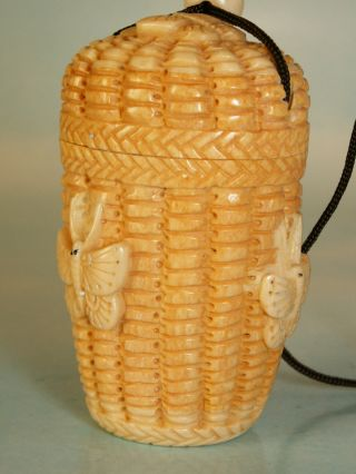 Carved Basket Inro - Butterflies Uk523 photo