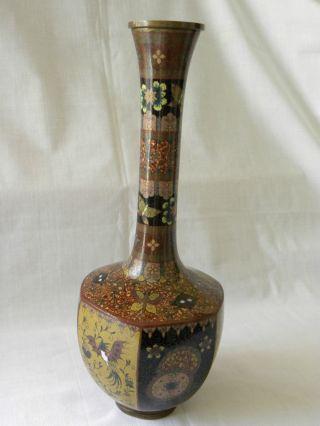 Antique Meiji Period Cloisonne Vase photo