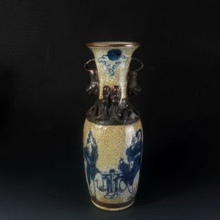 In The Late Qing Dynasty Brother Kiln Blue And White Characters Amphora 景德镇value photo
