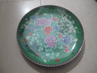 Glaze Plate Porcelain Chinese Exquisite Old No.  6 photo