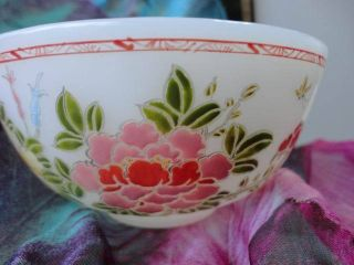 Jade Flower Bowl Carves Chinese Exquisite Old photo