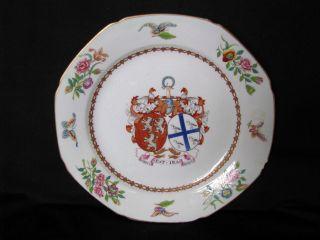 Antique Chinese Armorial ~stuart Of Bute ~nobilis Est.  Ira Leoni~porcelain Plate photo
