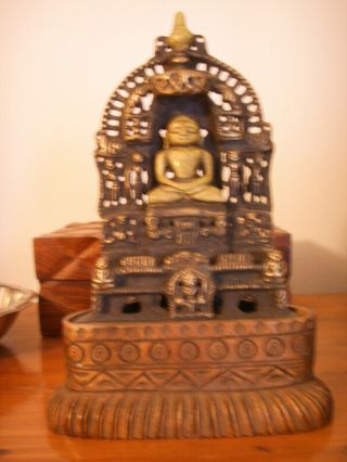 Rare Old And Excellent Gold Gilt Bronze Of The Seated Buddha Amazing Detail photo