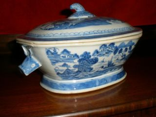 19th Century Chinese Export Canton Soup Tureen photo