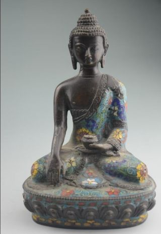 Antique Chinese Cloisonne Statue - Buddha Nr photo