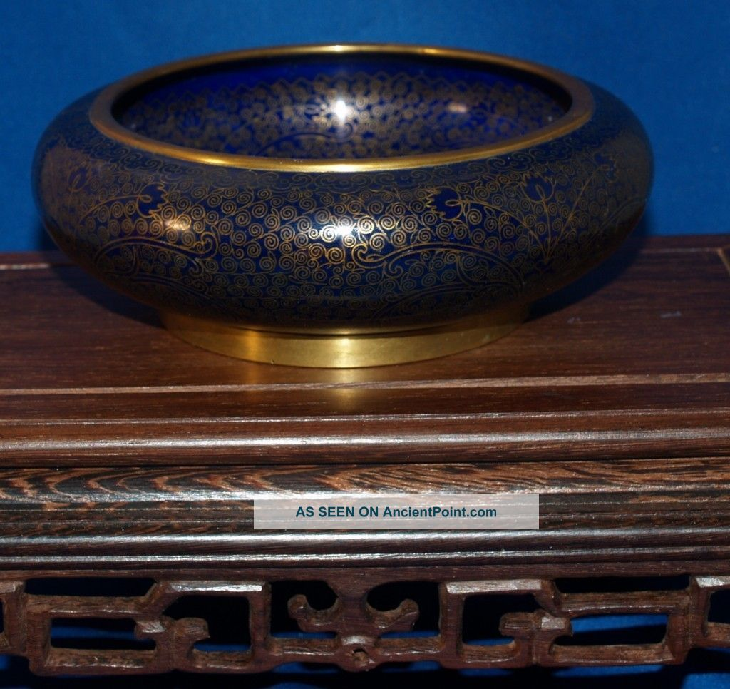 Very Fine Antique Chinese Cloisonne Bowl Imperial Quality 19th Century Boxes photo