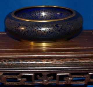 Very Fine Antique Chinese Cloisonne Bowl Imperial Quality 19th Century photo