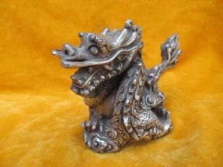 Copper Dragon Statues Shining Chinese Old Ancient photo