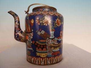 A Very Rich Decorated Chinese Cloisonné Teapot photo